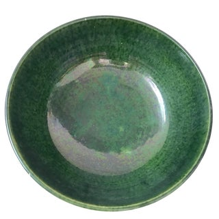 Vintage Provence French Green Ceramic Bowl