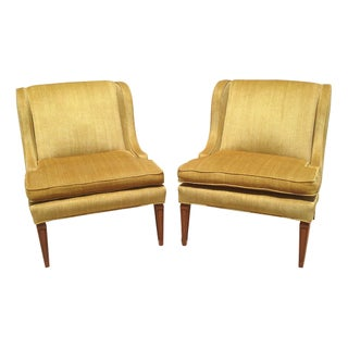 Gold Mid-Century Modern Chairs - A Pair