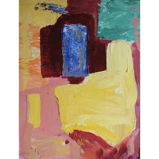 1980s Vintage Abstract Painting