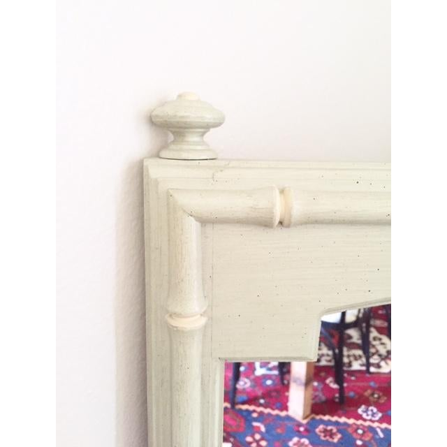 Image of Vintage Thomasville Pale Green Faux Bamboo Mirror
