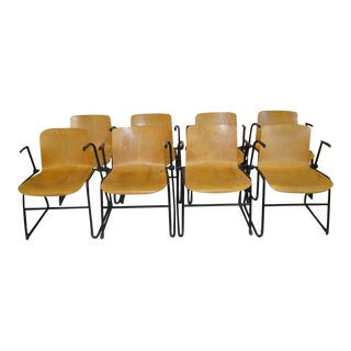 J. Hayward Bent Plywood Chairs for Kinetics - Set of 8