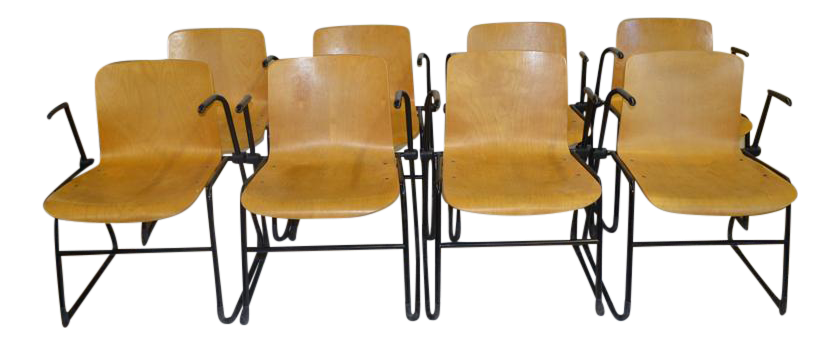 J. Hayward Bent Plywood Chairs For Kinetics   Set Of 8