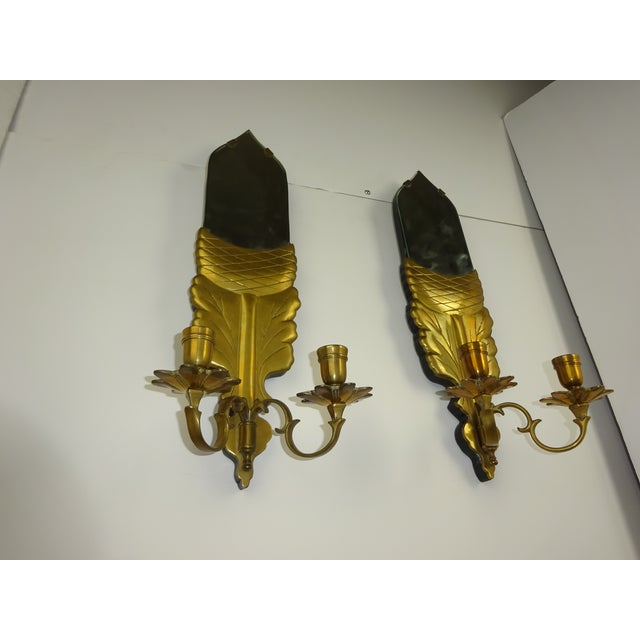 Chapman Brass Wall Sconces : Chapman Brass Double Arm Wall Sconces - a Pair Chairish