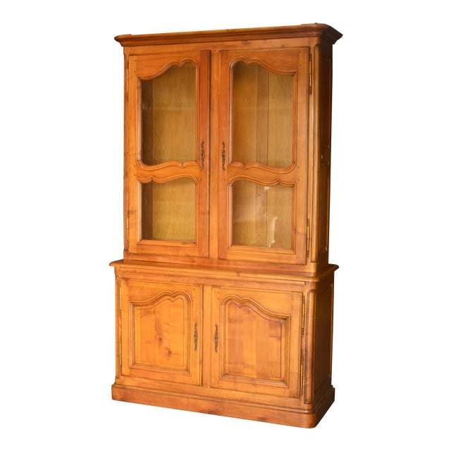 French Cherrywood & Glass Bookcase - Image 1 of 5