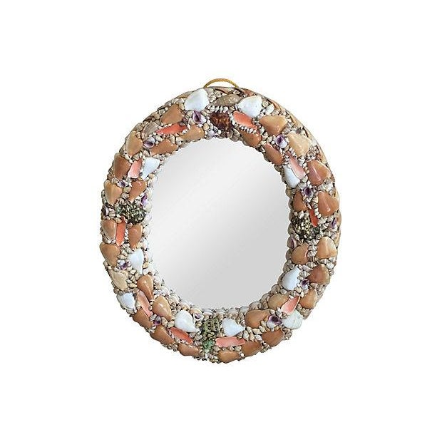 Image of Oval Seashell Mirror