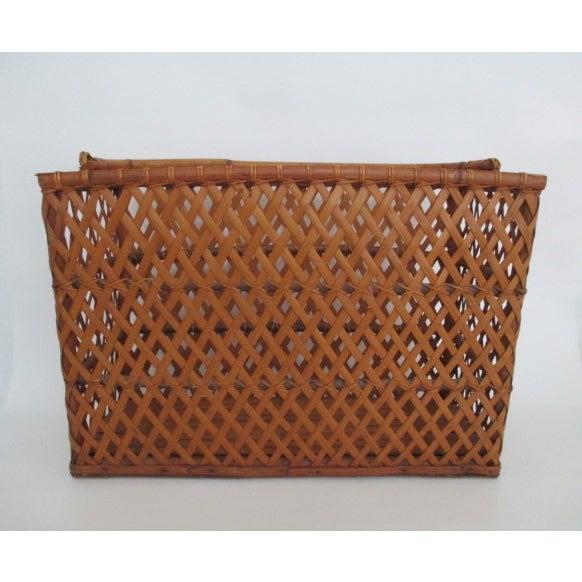 Vintage Handmade Wicker Basket - Image 2 of 6