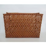 Image of Vintage Handmade Wicker Basket