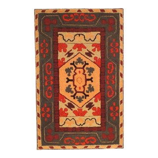 Fantastic and Colorful Mounted Hand-Hooked Rug from Lancaster, PA