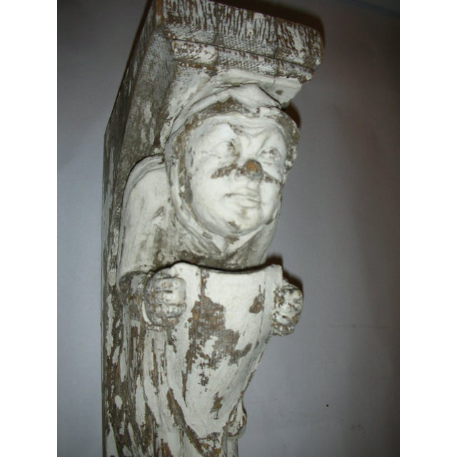 Antique Carved Oak Gargoyle Brackets - A Pair - Image 9 of 11