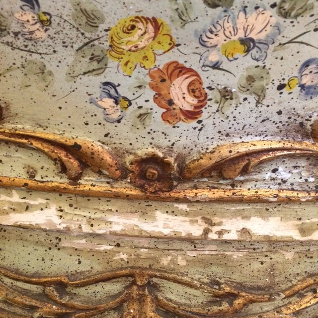 French Rococo Painted & Parcel Gilt Commode - Image 9 of 10