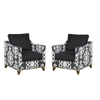 Kristin Drohan Collection Louie Upholstered Club Chairs- A Pair