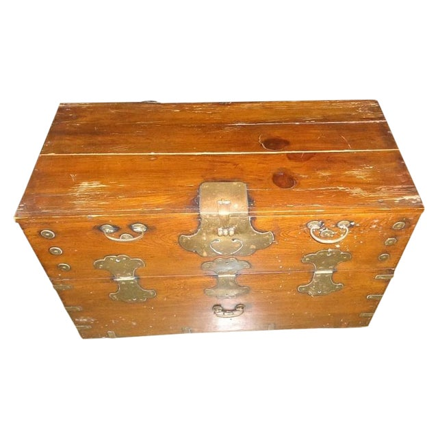 Antique Asian Drop Front Chest - Image 1 of 8