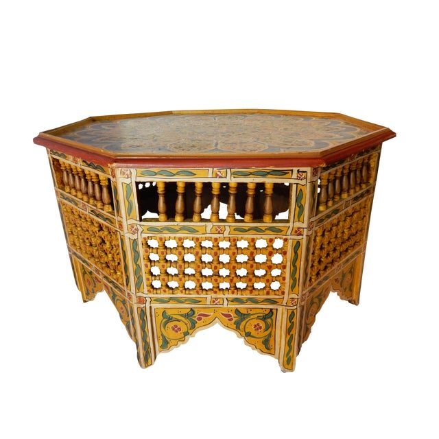 Moroccan 8 Sided Coffee Table - Image 1 of 10