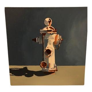 Jody Litton Fire Hydrant Oil Painting