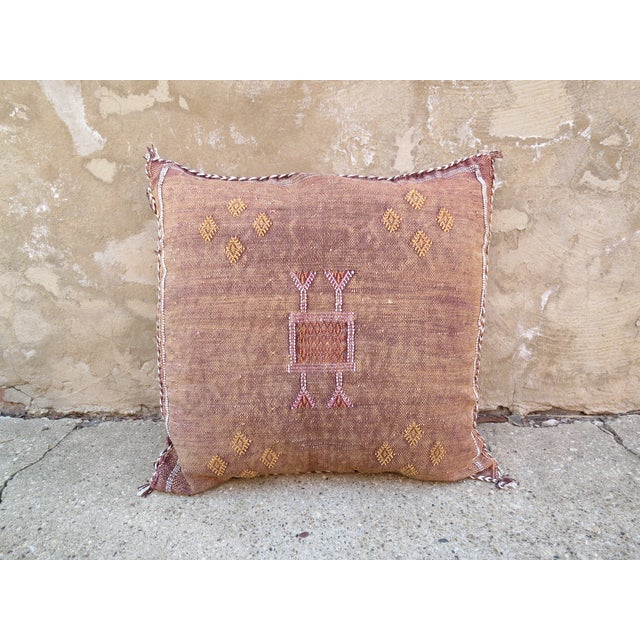 Moroccan Sabra Cactus Silk Pillow - Image 2 of 4