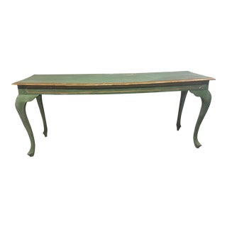 Wooden Lime Green Console Table
