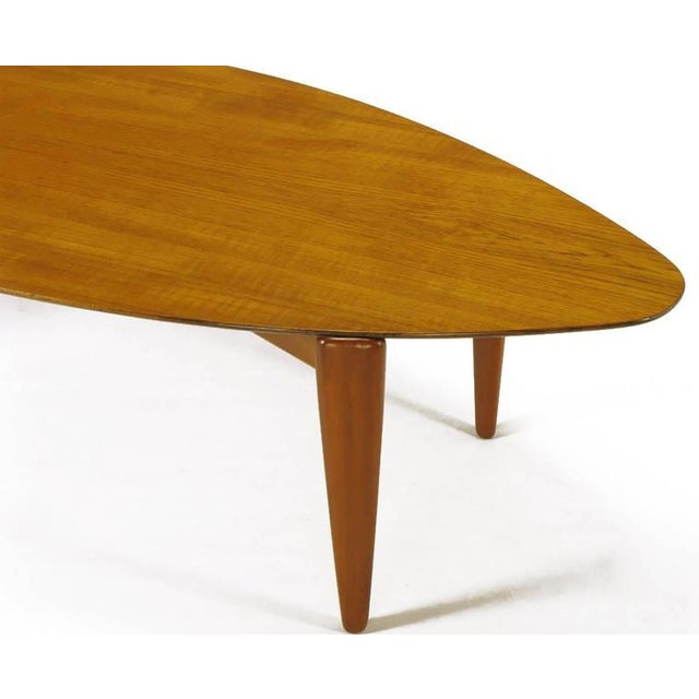 Double Parabola Teak Coffee Table in the Manner of Finn Juhl - Image 6 of 8
