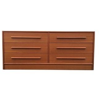 Kibaek Mobelfabrik Danish Modern Teak 6 Drawer Dresser