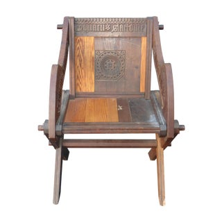 Rare Vintage Reproduction Glastonbury Carved Chair