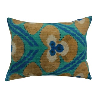 Ikat Silk Velvet Gina Pillow