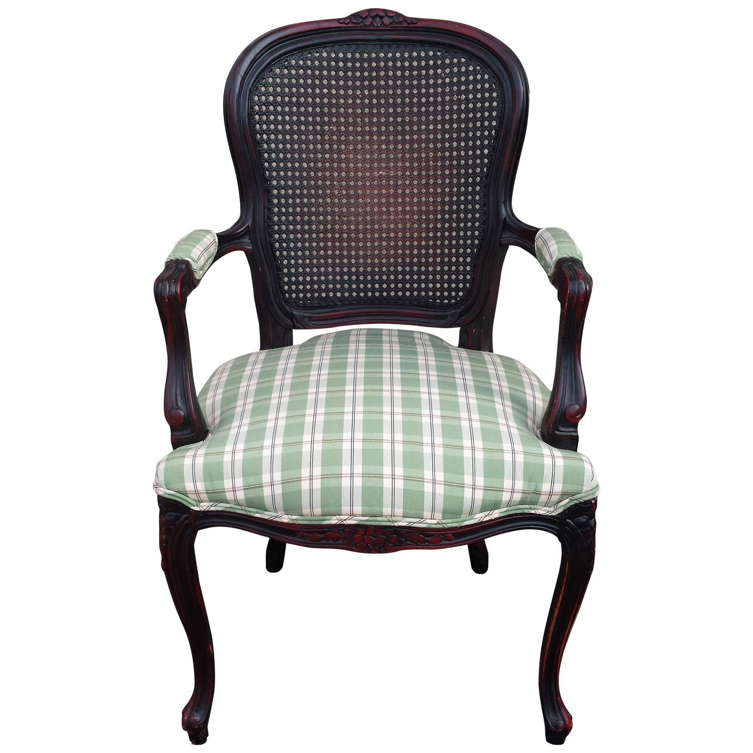 French Armchair Cane Back Louis XV Style   Image 1 Of 4