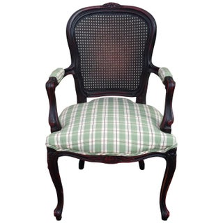 French Armchair Cane Back Louis XV Style