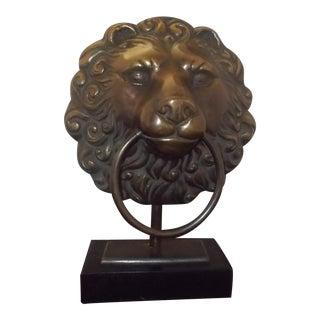 Cast Iron Lion Head Mantle Lamp