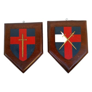 Vintage Lodge House Heraldic Shields