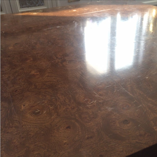 Mid-Century Burlwood Cube Coffee Table - Image 6 of 6
