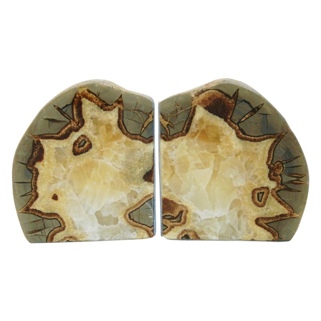 Image of Dragonstone Geode Bookends- A Pair