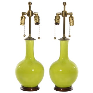 Pair of Christopher Spitzmiller Single Gourd Table Lamps