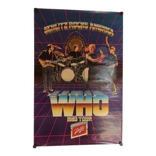 """""""The Who Schlitz Rock America"""" 1982 Tour Poster"""