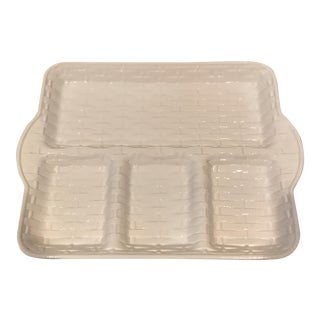 Italian Whiteware Lattice Serving Tray