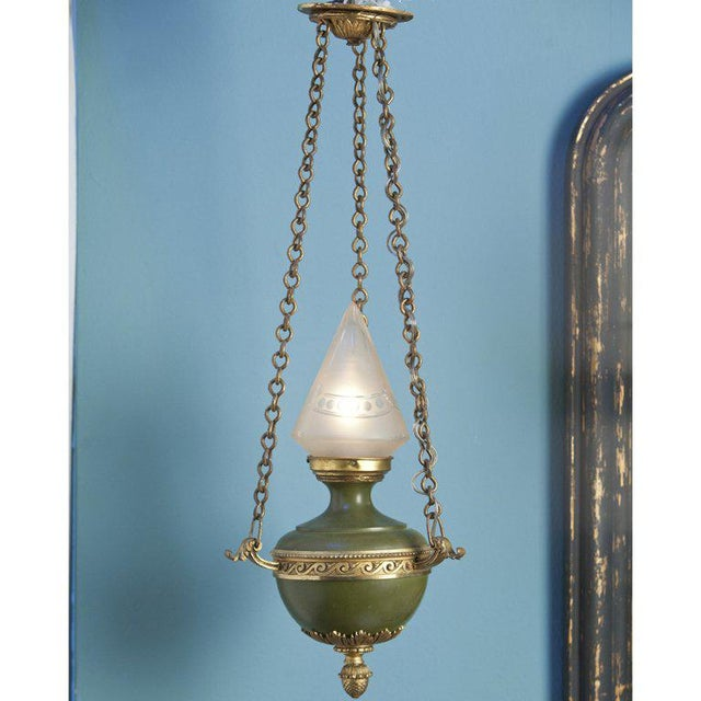 Antique Empire-Style Lantern from France, circa 1910 - Image 6 of 6