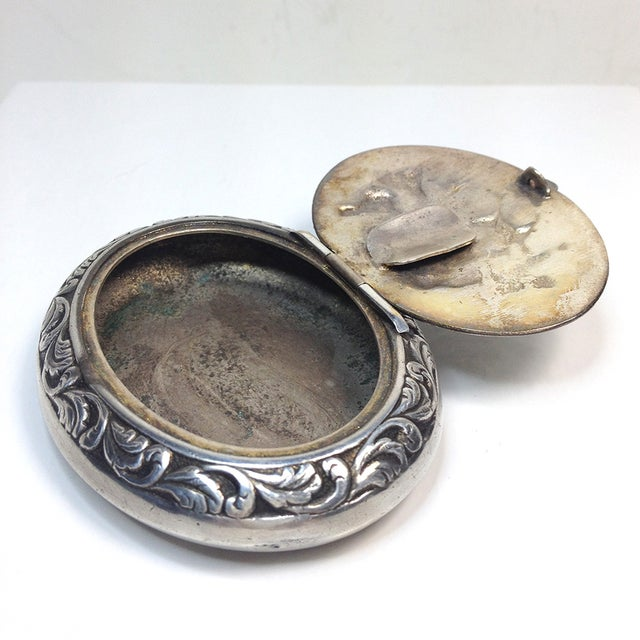 Engraved Silverplate Handheld Ashtray - Image 4 of 5