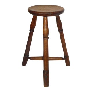 Early 19th Century New England Pie Crust Border Stool