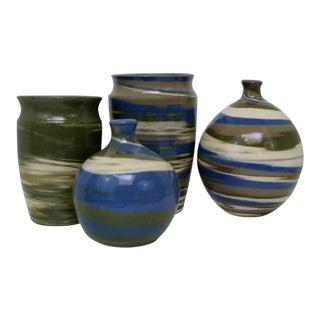 Artisan Ceramic Vases - Set of 4
