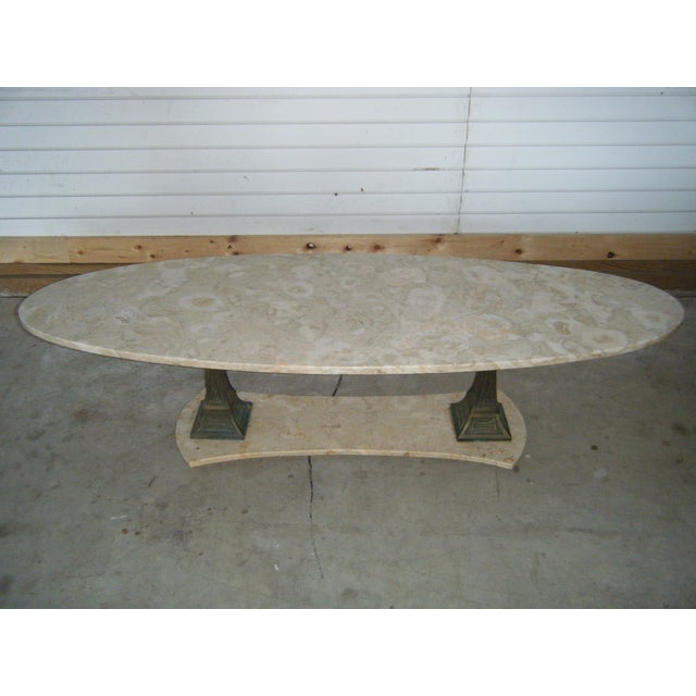Old Marble Top Coffee Table: Vintage Italian Marble Top Coffee Table