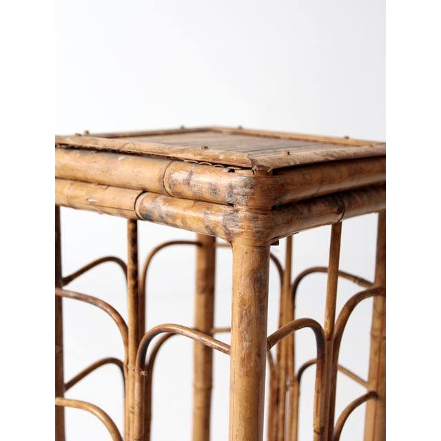 Vintage Bamboo Side Table - Image 3 of 8