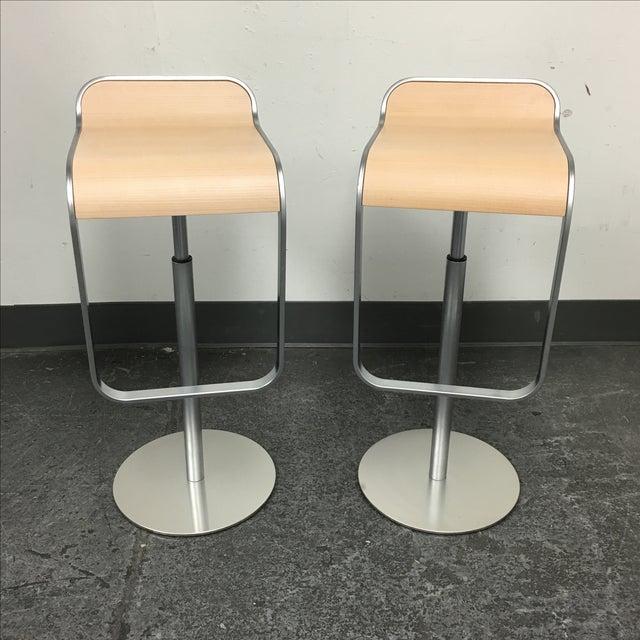 Lapalma Lem Adjustable Barstools - Pair - Image 2 of 8