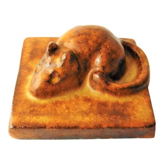 House Mouse Pottery Paperweight