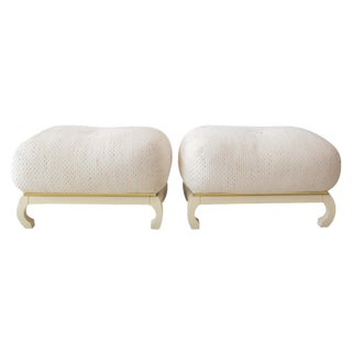 Asian James Mont-Style Poufs - A Pair