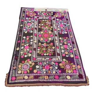 Collectible Antique Suzani with Perfect Natural Colors - 6.7' x 4.2'