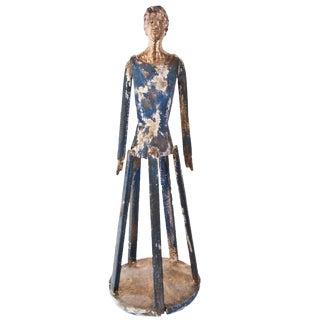 Large Vintage Inspired Hand-carved Wood Santos Figure