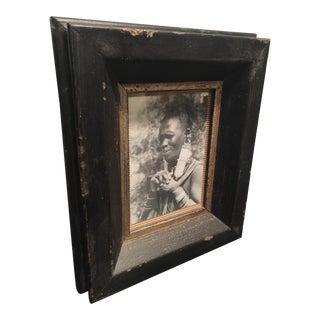 Dark Aged Frame with Photo