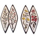 Image of Atomic-Style Floral Wall Plaques - Set of 2