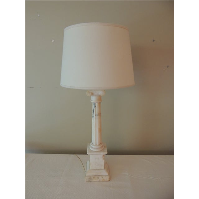 Image of Antique French Marble Column Lamp