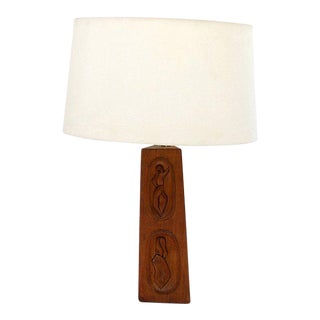 Geisha Mahogany Table Lamp