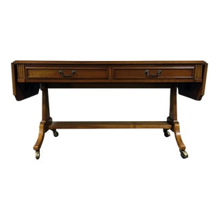 Vintage Drop-Leaf Library Table / Sofa Table