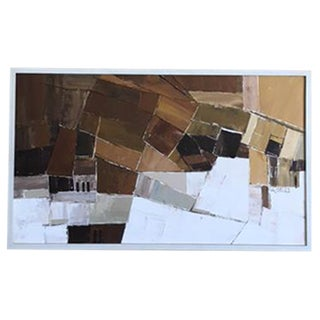 Framed Mid-Century Abstract Painting